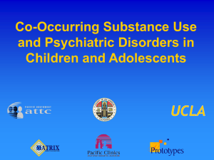 Co-Occurring Substance Use and Psychiatric Disorders