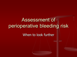 Assessment of perioperative bleeding risk