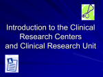 General Clinical Research Center (GCRC)