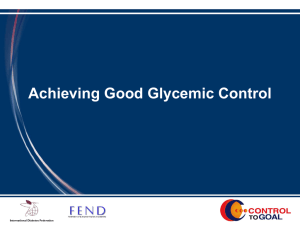 Achieving Good Glycemic Control