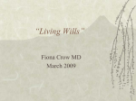 Living Wills / Health Care Directives