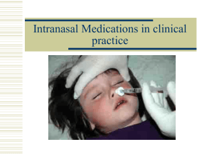 Nasal Drug Delivery in EMS