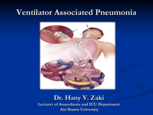 Ventilator Associated Pneumonia and SDD