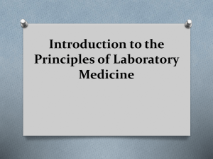 Introduction to the Principles of Laboratory Medicine
