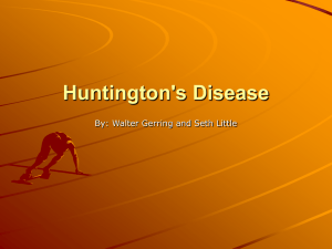 Huntington's Disease - Bridgewater College