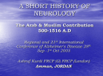 A SHORT HISTORY OF NEUROLOGY The Arab Contribution 500
