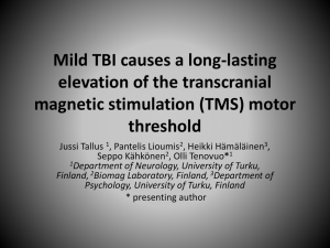Mild TBI causes a long-lasting elevation of the