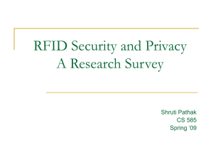 RFID Security and Privacy A Research Survey