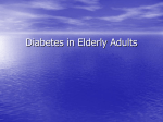 Diabetes in Elderly Adults - Isfahan University of Medical