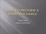 HOW TO write a good discharge summary