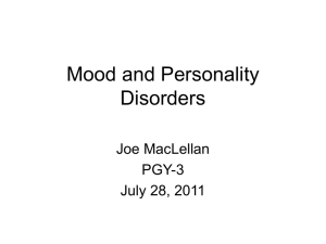 Affective and Personality Disorders