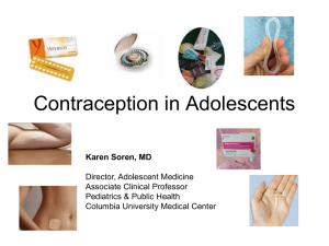 Contraception in Adolescents