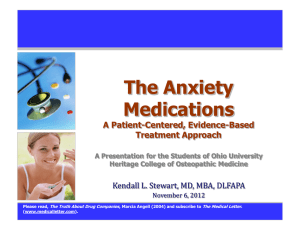 The Anxiety Disorders Some Practical Questions & Answers