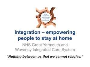 Integration – empowering people to stay at home