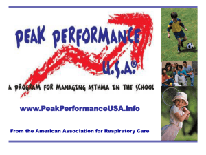 Peak Performance USA: Asthma Diagnosis and Management