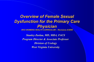 Female Sexual Dysfunction Lecture