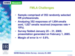 Has your organization experienced challenges administering FMLA