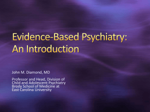Evidence-Based Psychiatry: An Introduction