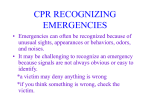 CPR RECOGNIZING EMERGENCIES
