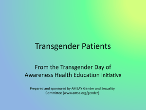 Transgender Patients - Power Point