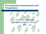 Pre-operative Assessment and Preparation