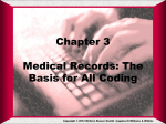 Chapter 3 Medical Record as a Source Document, Basic Coding