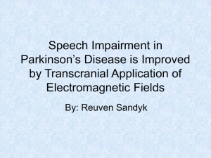 Speech Impairment in Parkinson`s Disease is Improved by