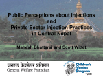 Improving injection practices in Nepal