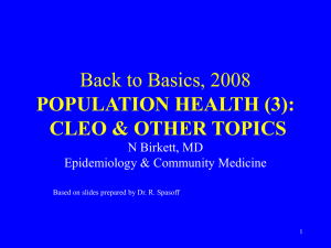 Epidemiology and Community Medicine (3)