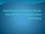 Interferences to Safety Needs Due to Sensory Deprivation and Aging