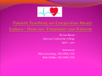 Patient Discharge Teaching : Heart Failure