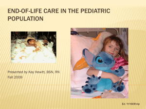 End-of-life care in the pediatric population