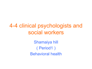 4-4 clinical psychologists and social workers