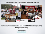 Patients- and advocates-led initiatives []