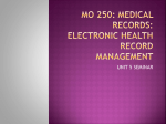 mo 250: medical records: electronic health record management