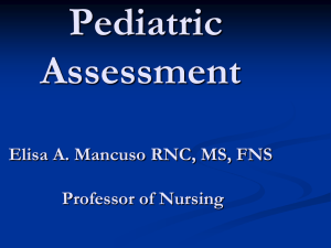 Pediatric Assessment - Suffolk County Community College