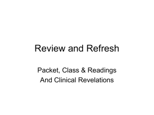 Review and Refresh
