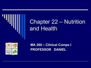 Chapter 29 – Nutrition and Health Promotion