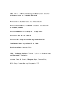 This PDF is a selection from a published volume from... National Bureau of Economic Research
