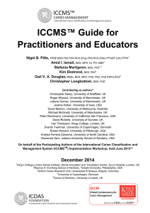 ICCMS™ Guide for Practitioners and Educators  Nigel B. Pitts,