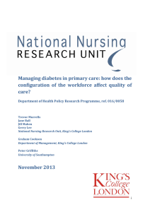 Managing diabetes in primary care: how does the
