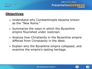 The Byzantine Empire - Wharton High School