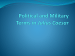 Political and Military Terms in Julius Caesar