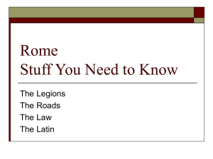Rome Stuff You Need to Know