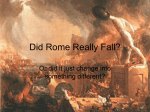 Did Rome Really Fall?