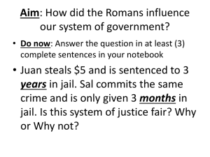 Aim: How did the Romans influence our system of government?