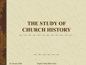 CHURCH HISTORY PART 1