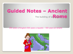 Guided Notes – Ancient Rome