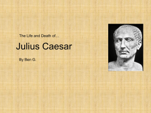 Julius Caesar - Oak Ridge High School