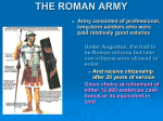 the roman army - North Andover Public Schools